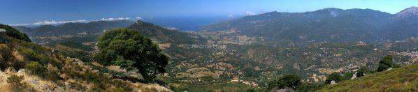 Vue au dessus de Fozzano, Corse